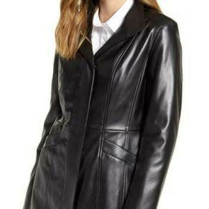 Cole Haan Signature Faux Leather Black Jacket